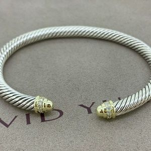 David Yurman Classic Bracelet 18k Gold & Diamonds
